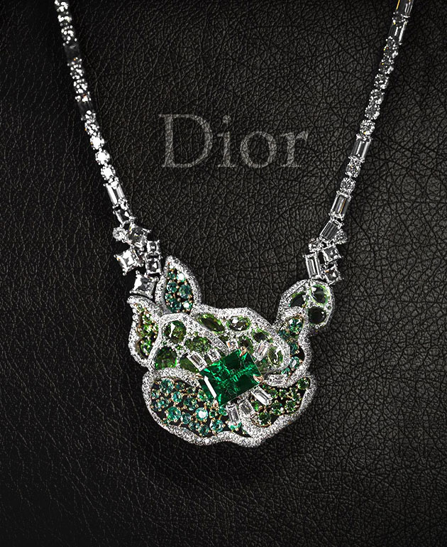 Витражи колье Dior Rose Vitrail
