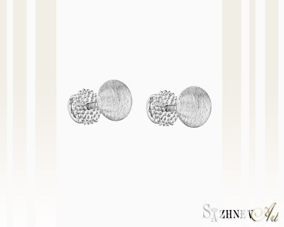 Серьги из белого золота без камней. Артикул CH231-c153w