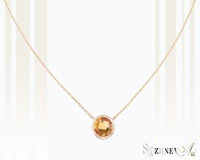 Колье из красного золота с камнем цитрин Арт.CH269-pc443(2)