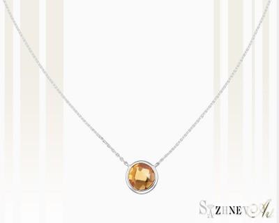 Колье из белого золота с камнем цитрин Арт.CH270-pc443(2w)