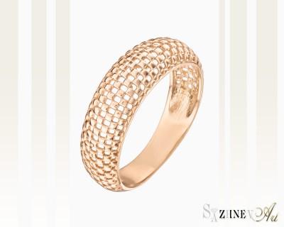 Кольцо из красного золота без камней. Артикул CH019-k003