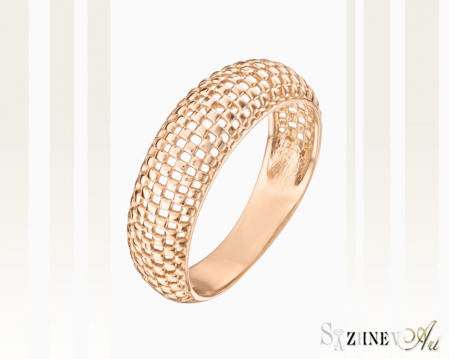 Кольцо из красного золота без камней Арт.CH019-k003