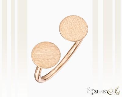Кольцо из красного золота без камней. Артикул CH042-k021(2)