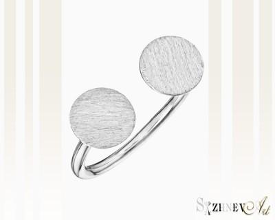 Кольцо из белого золота без камней. Артикул CH071-k021(2w)
