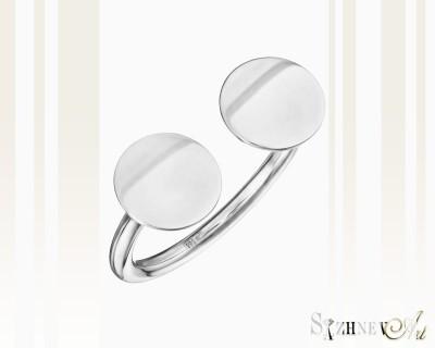 Кольцо из белого золота без камней. Артикул CH222-k021w