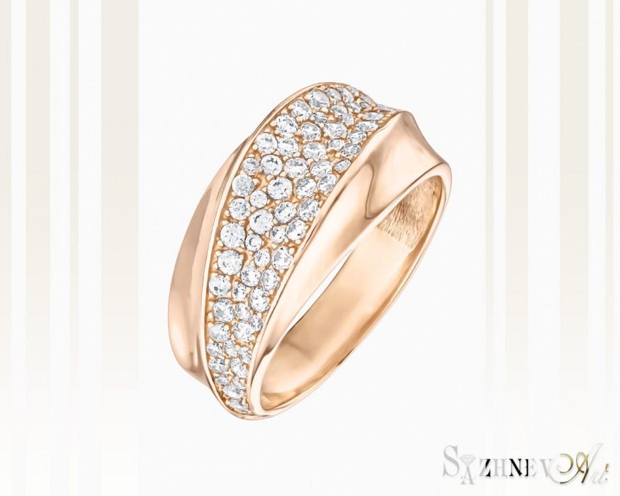 Кольцо из красного золота с цирконием Арт.CH015-k087(2)