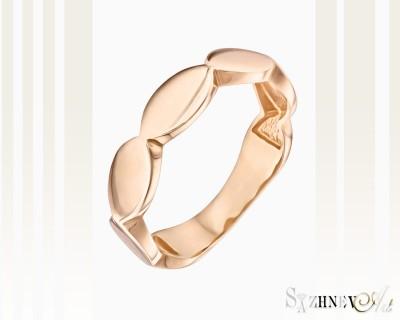 Кольцо из красного золота без камней. Артикул CH097-k089