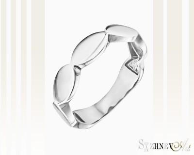 Кольцо из белого золота без камней. Артикул CH220-k089w