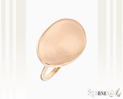 Кольцо из красного золота без камней. Артикул CH236-k091