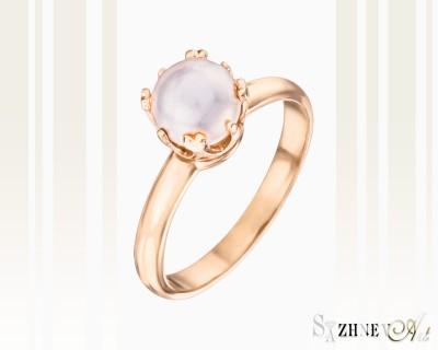 Кольцо из красного золота с жемчугом. Арт.CH100-k250