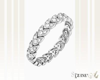 Кольцо из белого золота с цирконием. Артикул CH040-k252w