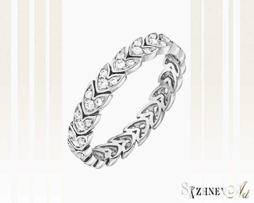 Кольцо из белого золота с цирконием Арт.CH040-k252w