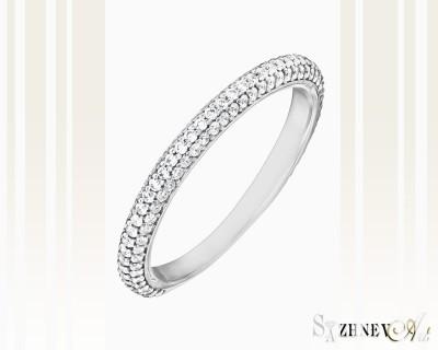 Кольцо из белого золота с цирконием. Артикул CH072-k364(2w)