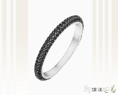Кольцо из белого золота с цирконием. Артикул CH084-k364w
