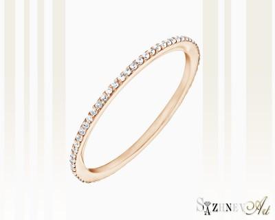 Кольцо из красного золота с цирконием. Артикул CH087-k365