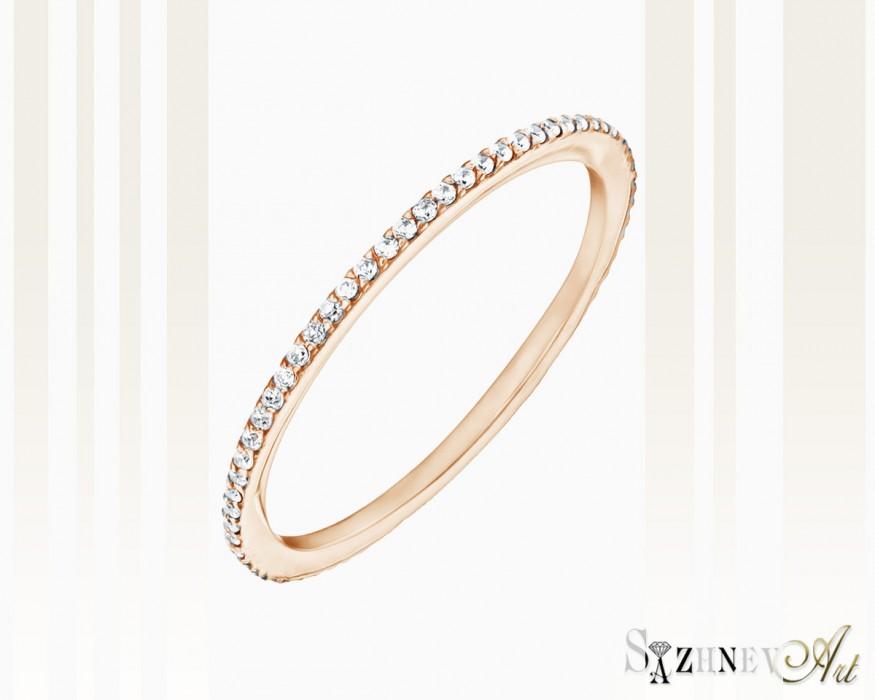 Кольцо из красного золота с цирконием Арт.CH087-k365