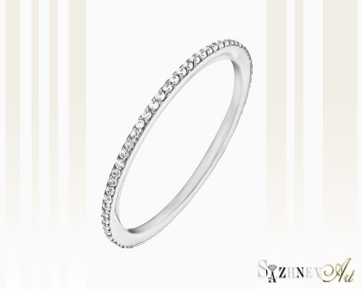 Кольцо из белого золота с цирконием. Артикул CH219-k365w