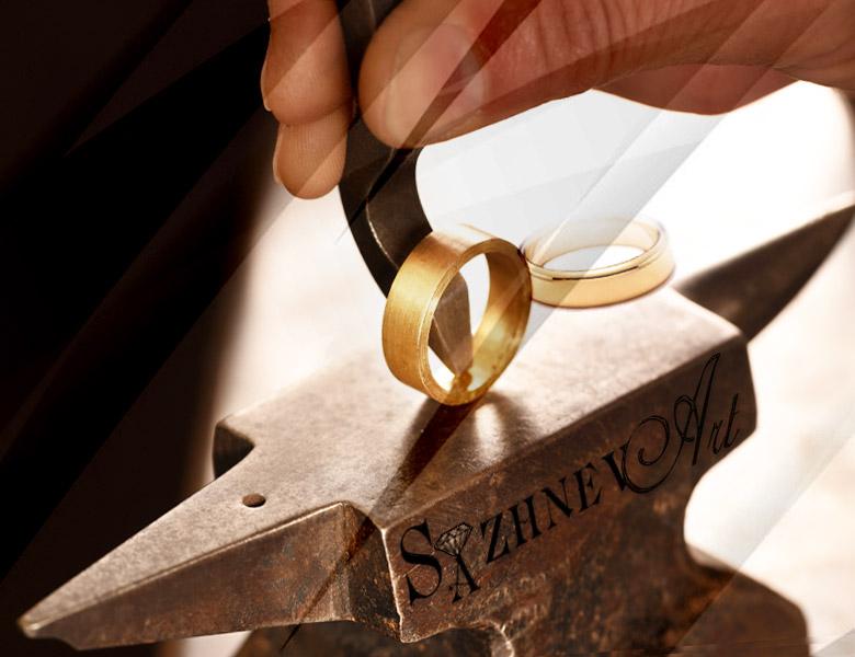 Заказать производство обручальных колец в ювелирной мастерской