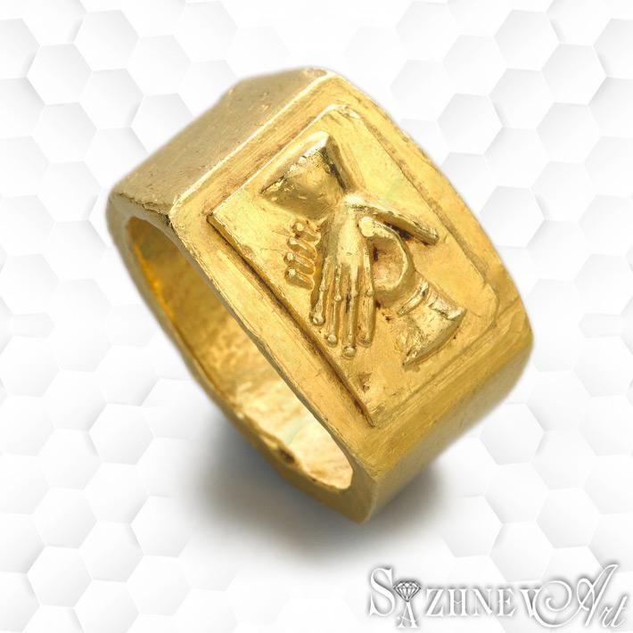 Римское обручальное (брачное) «кольцо Fede» из золота. III век н.э. Символизирует рукопожатие, «Брачный договор», как его понимали в Риме.