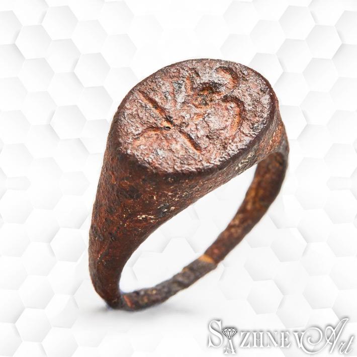 Железное кольцо-печать. Рим, республиканский период. II-I век до н.э.