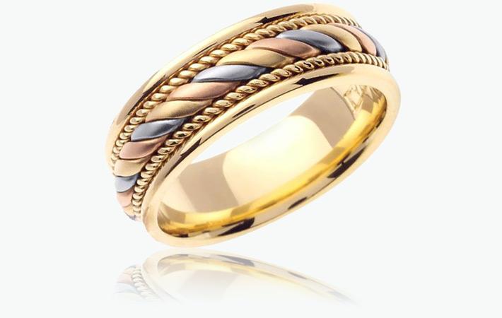 Производство обручалок с разными цветами золота